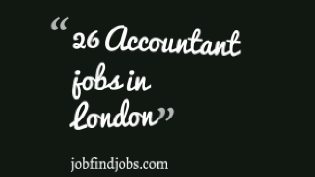 26 Accountant jobs in London